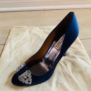 Badgley Mischka Navy Embellished Shoe Size 7.5